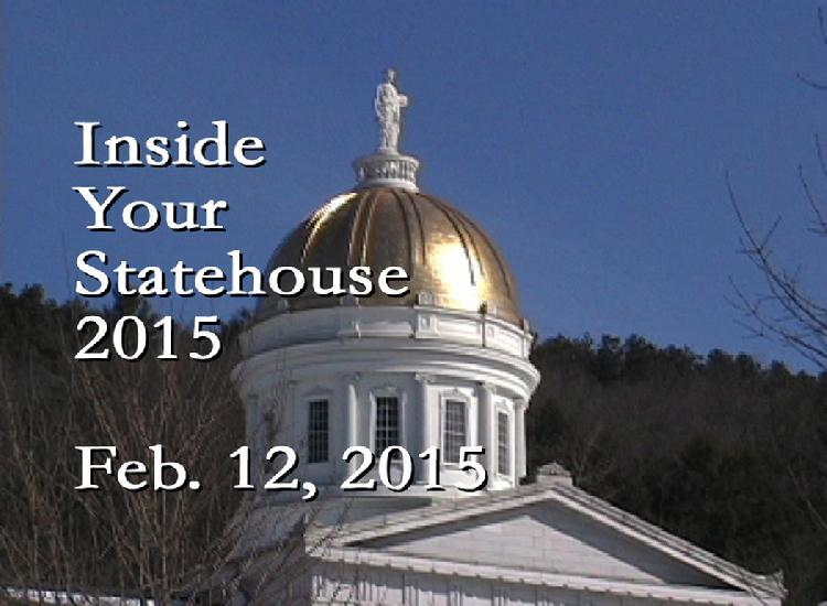 Inside Your Statehouse 2015 Feb. 12, 2015  Speaker Shap Smith, Rep. Tony Klein and Rep. Rebecca Ellis discuss Vermont natural resources and energy issues. View at: https://vimeopro.com/vtvt/insideyourstatehouse2015/video/119645050